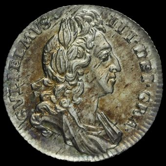 1696 William III Early Milled Silver Sixpence Obverse