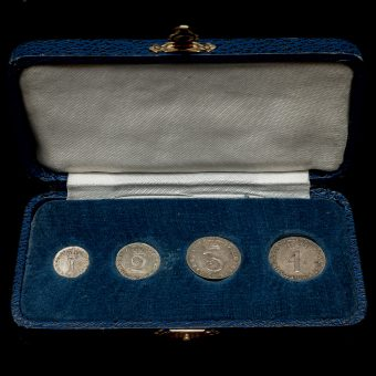 1739 George II Early Milled Silver Maundy Set