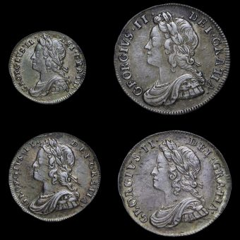 1739 George II Early Milled Silver Maundy Set Obverse