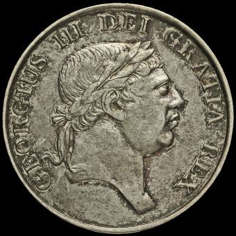 1813 George III Silver Three Shillings Bank Token Obverse
