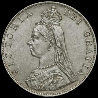 1887 Queen Victoria Jubilee Head Silver Double Florin Obverse