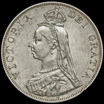 1889 Queen Victoria Double Florin Obverse
