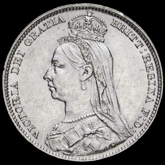 1891 Queen Victoria Jubilee Head Silver Shilling Obverse
