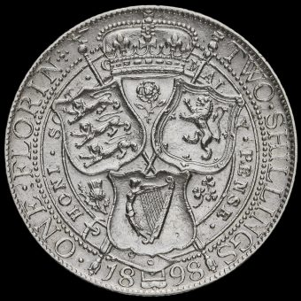 1898 Queen Victoria Veiled Head Silver Florin Reverse