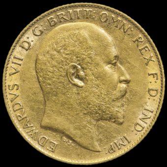 1902 Edward VII Gold Half Sovereign Obverse