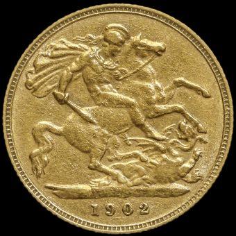 1902 Edward VII Gold Half Sovereign Reverse
