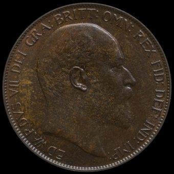 1905 Edward VII Penny Obverse