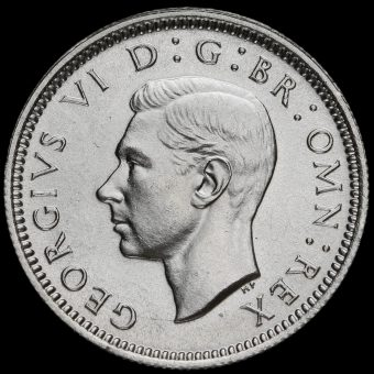 1937 George VI Silver Sixpence Obverse