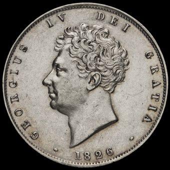 1826 George IV Milled Silver Half Crown Obverse