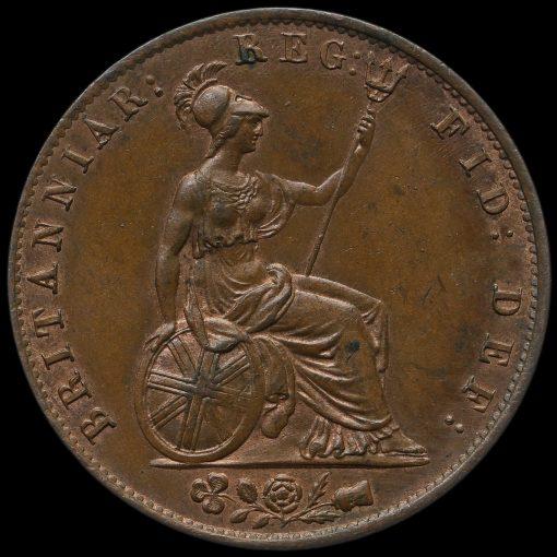 1841 Queen Victoria Young Head Copper Halfpenny Reverse