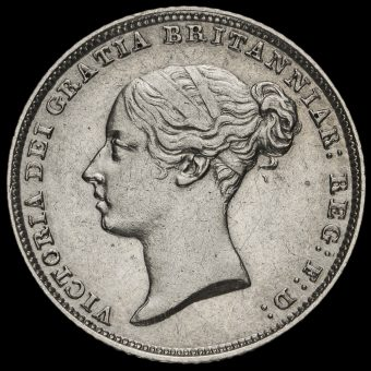 1851 Queen Victoria Young Head Silver Sixpence Obverse