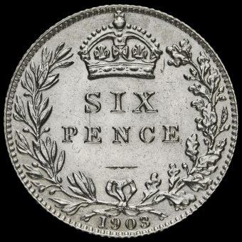 1903 Edward VII Silver Sixpence Reverse