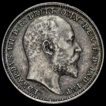 1906 Edward VII Silver Maundy Fourpence Obverse