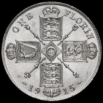 1915 George V Silver Florin Reverse