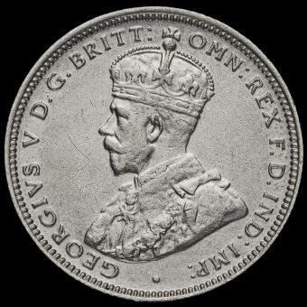 Australia 1915 H George V Silver Shilling Obverse