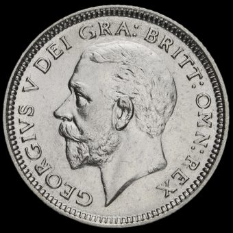 1926 George V Silver Sixpence Obverse