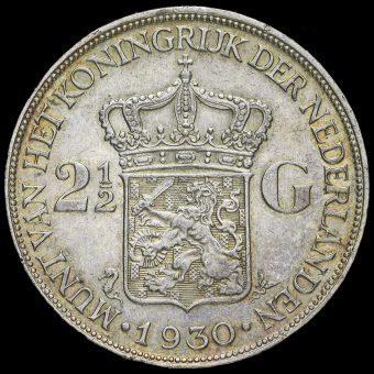 Netherlands 1930 2 1/2 Gulden Reverse