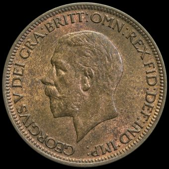 1935 George V Halfpenny Obverse