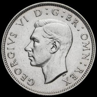 1937 George VI Silver Two Shilling Coin / Florin Obverse