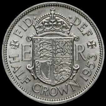 1953 Queen Elizabeth II Half Crown Reverse