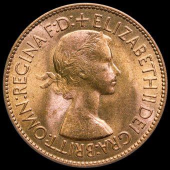 1953 Elizabeth II Penny Obverse