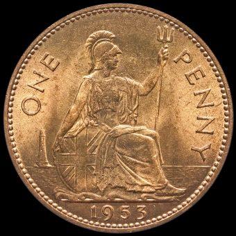 1953 Elizabeth II Penny Reverse