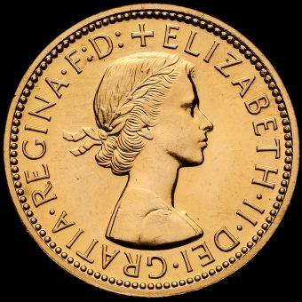 1970 Elizabeth II Proof Halfpenny Obverse