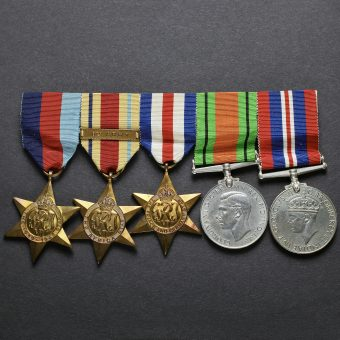 WW2 British Army Five Medal Group Obverse