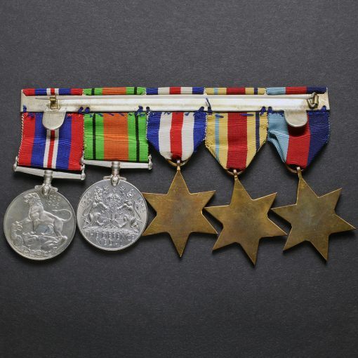 WW2 British Army Five Medal Group Reverse