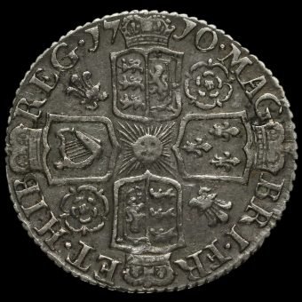 1710 Queen Anne Early Milled Silver Sixpence Reverse