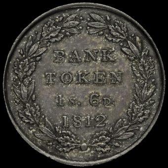 1812 George III Silver Eighteenpence Bank Token Reverse