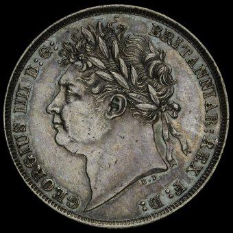 1821 George IV Milled Silver Shilling Obverse
