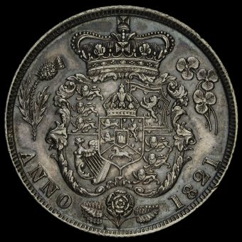 1821 George IV Milled Silver Shilling Reverse
