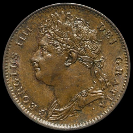 1825 George IV Copper Farthing Obverse
