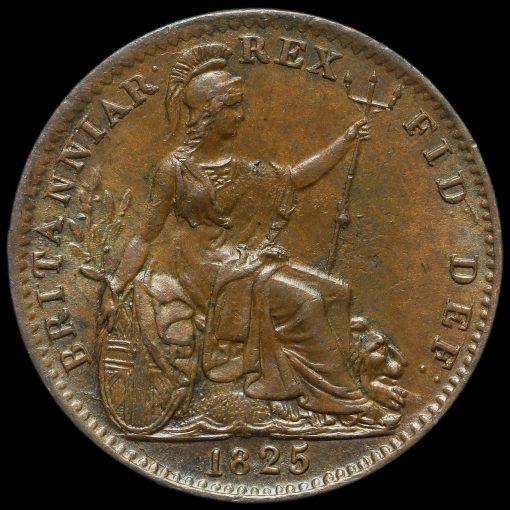 1825 George IV Copper Farthing Reverse