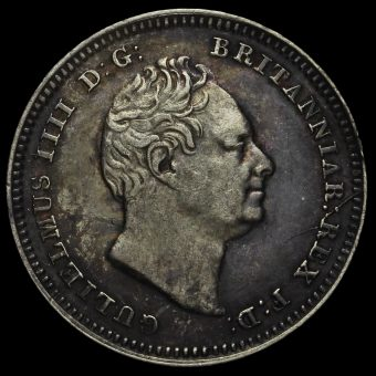 1834 William IV Milled Silver Threepence Obverse