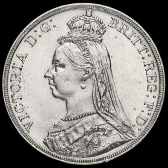 1887 Queen Victoria Jubilee Head Silver Crown Obverse