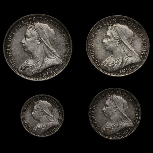 1898 Queen Victoria Veiled Head Silver Maundy Set Obverse