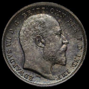 1902 Edward VII Silver Maundy Fourpence Obverse