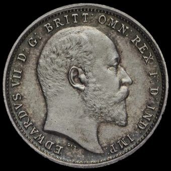 1903 Edward VII Silver Maundy Fourpence Obverse