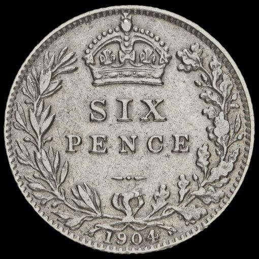 1904 Edward VII Silver Sixpence Reverse