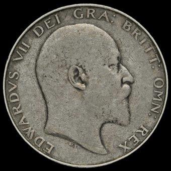 1904 Edward VII Silver Half Crown Obverse