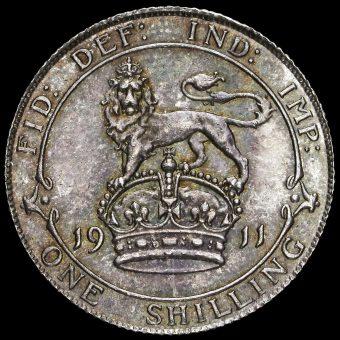 1911 George V Silver Shilling Obverse
