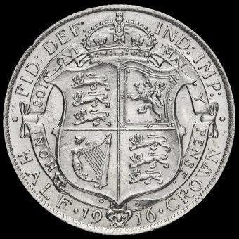 1916 George V Silver Half Crown Reverse