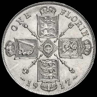 1917 George V Silver Florin Reverse