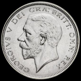 1927 George V Silver Half Crown Obverse