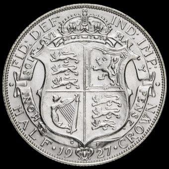 1927 George V Silver Half Crown Reverse