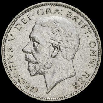 1934 George V Silver Half Crown Obverse