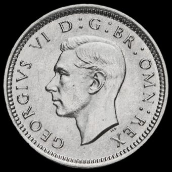 1943 George VI Silver Threepence Obverse