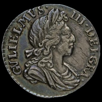 1698 William III Early Milled Silver Maundy Twopence Obverse